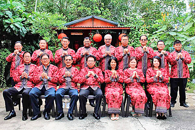 Organizing committee for the PWM Chinese New Year Dinner celebration in a group photo. - JAMES KON