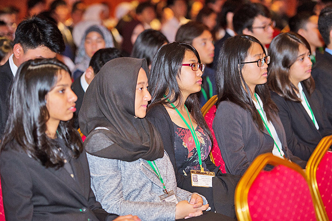 Conference participants at the opening ceremony