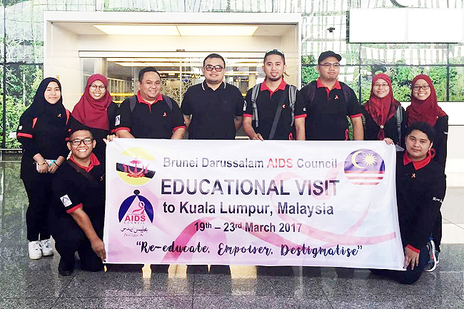 A group photo taken at the Brunei International Airport prior to the delegation's departure. - WANI ROSLAN