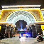 Police escorts leave the compound of Istana Negara after the rehearsals for the coronation ceremony of the 15th Yang Di-Pertuan Agong. - BERNAMA