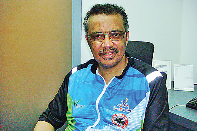 Dr Tedros Adhanom Ghebreyesus, one of the three nominees for the World Health Organization (WHO) Director-General 2017 post