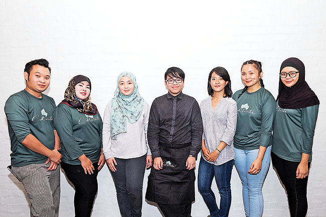 Cultivate Bistro Manager Afizah Sim (third from left) and her team