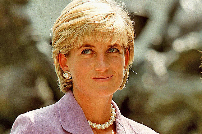 File photo dated June 17, 1997 shows Britain's Diana, Princess of Wales, at a ceremony at Red Cross headquarters in Washington, to call for a global ban on anti-personnel landmines