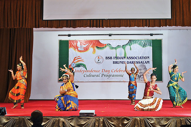 A classical Indian dance to entertain the audience
