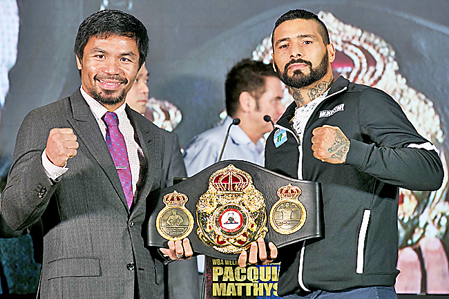 Manny Pacquiao stops Lucas Matthysse to claim WBA welterweight title