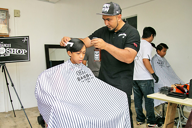 Orphans, underprivileged children get free haircut