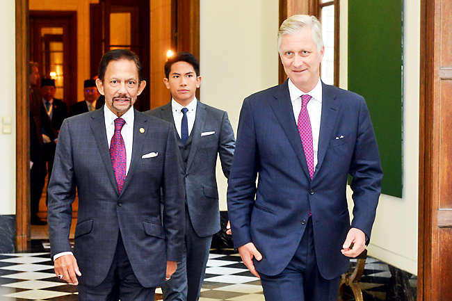 His Majesty meets King of Belgium