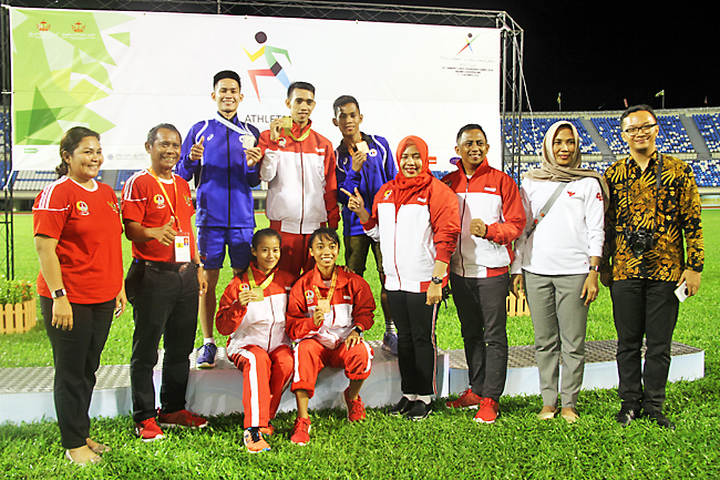 10th BIMPNT-EAGA Friendship Games 2018: South Sulawesi bag 1,500m men's and women's gold