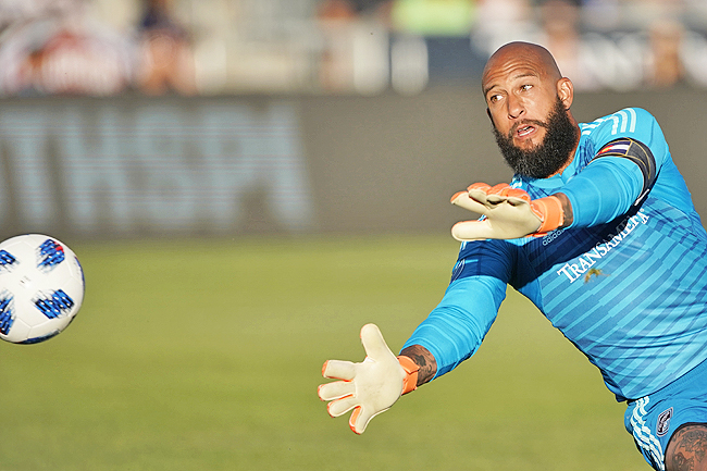 26a62d2d1 Colorado Rapids goalkeeper Tim Howard deflecting a shot. – AP. Howard s  announcement formally confirms the speculation that surrounded Howard last  season.