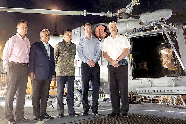 HMS Argyll on Brunei shores, hosts dinner reception for guests