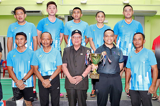 RBPF emerge champions at Info Dept badminton tournament (2019)
