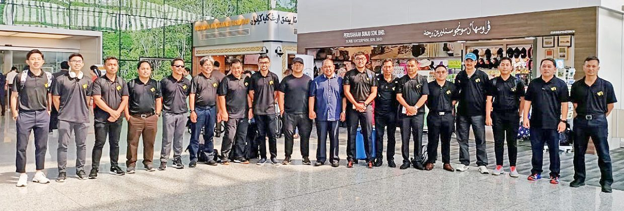 Brunei delegation Indonesia bound for sports meet (2019)