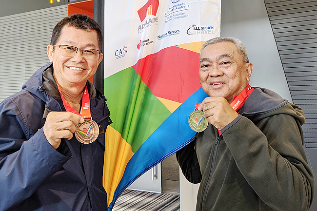 Brunei badminton players bag medals at Australian Masters Games (2019)