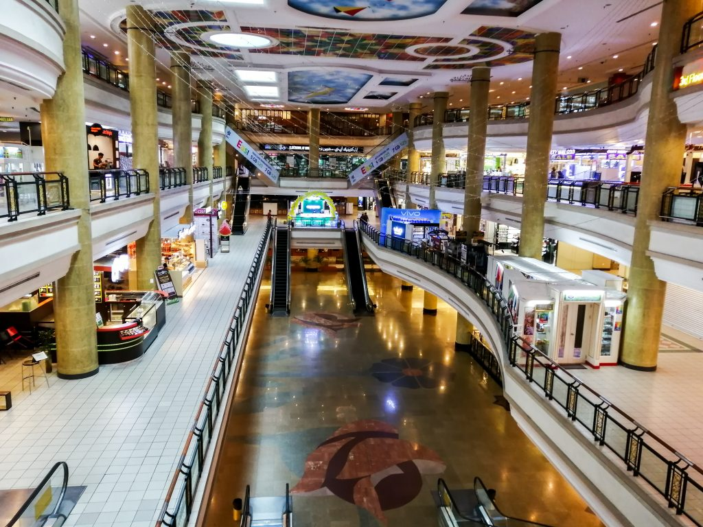 This file photo shows a general overview of the shopping arcade of The Mall in Gadong. (PHOTO: RAHWANI ZAHARI)