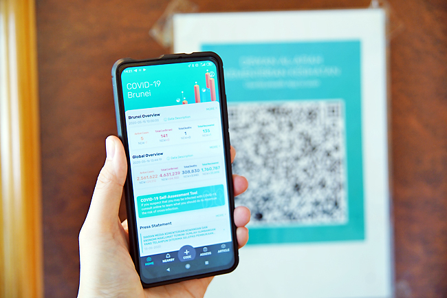 The BruHealth App displayed on a smartphone